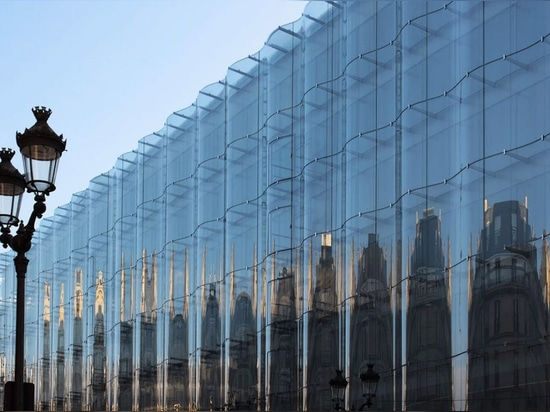It has a new glass facade by SANAA