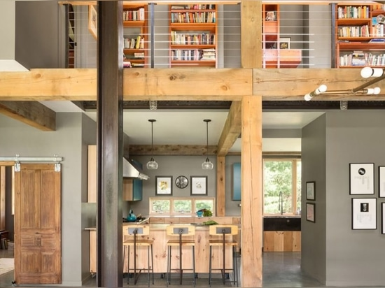 Farmhouse-inspired family home combines salvaged and sustainable materials