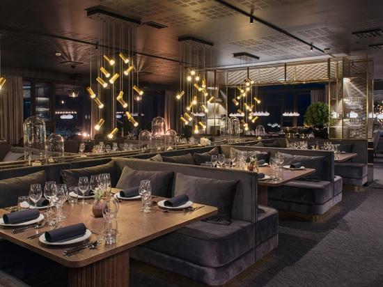 Jewels sparkling up the restaurant Funktionaermessen in at hotel Funken Lodge in Norway.
