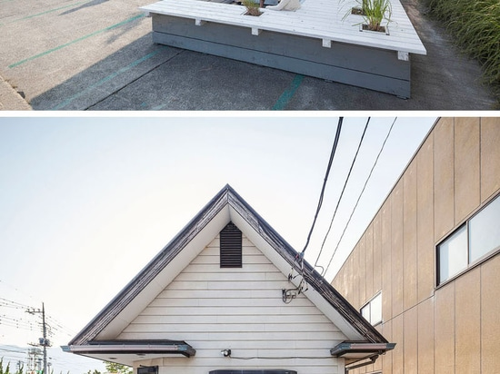 A Seating Terrace Was Added To This Barbershop In Japan