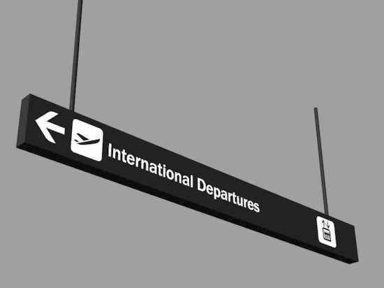 Airport wayfinding signage
