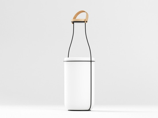 CONSTANTIN BOLIMOND ADOPTS THE MILK BOTTLE'S FORM FOR HIS MU LAMP