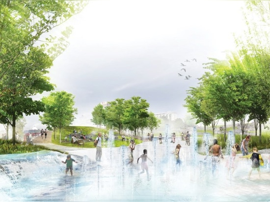 studio gang + SCAPE reveal plans to redesign a waterfront park in memphis, tennessee