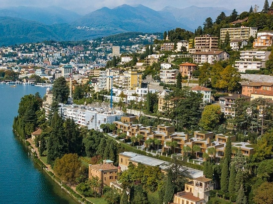 herzog & de meuron builds eight villas on the inclined banks of lake lugano