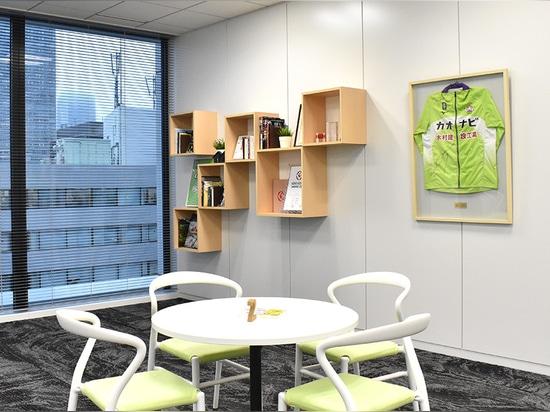 JOI Chair, CADREA barstool by TOOU @ Kaonavi Office by De-sign
