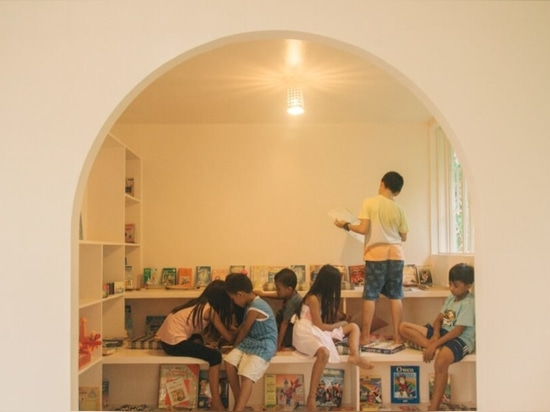 Locally crafted children's learning center doubles as an emergency shelter in the Philippines