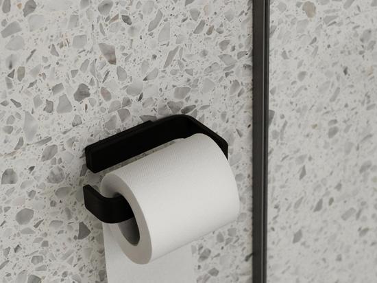 Toilet Roll Holder   Black