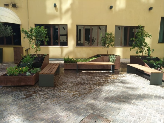 Street Furniture of Cervic Environment in Italy