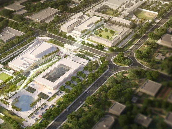 Weiss Manfredi unveils masterplan for New Delhi's modernist US Embassy
