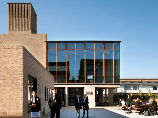 Haworth Tompkins designs Peter Hall Performing Arts Centre with glass foyer