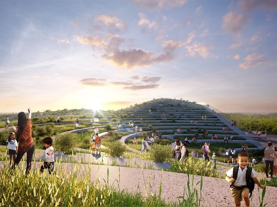 MVRDV breaks ground on tainan market with undulating accessible green roof
