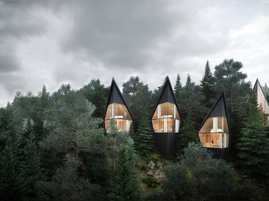 peter pichler architecture envisions sustainable treehouses in the italian dolomites
