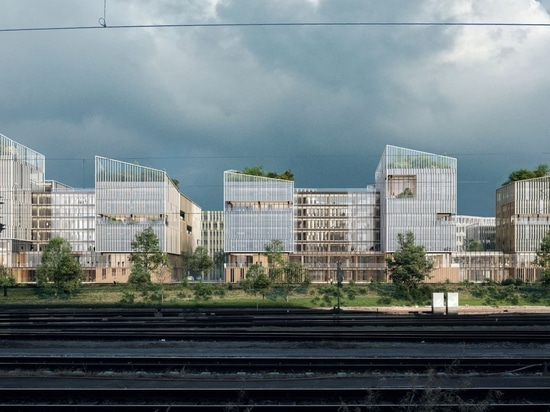 Henning Larsen's winning design for workspace inspired by rural French villages