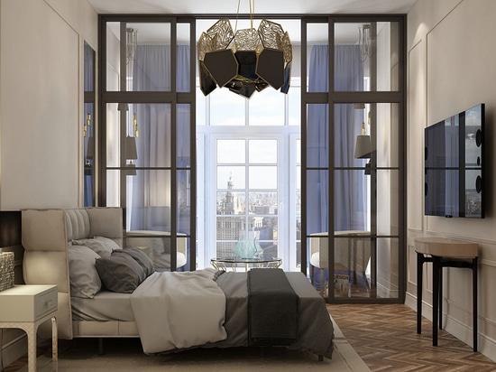 Contemporary Bedroom in Russia