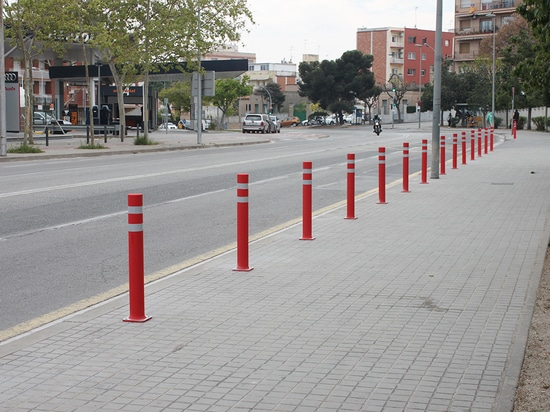 A-RESIST bollards with plate in Badalona
