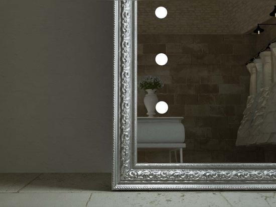 Unica lighted mirror luxury frame