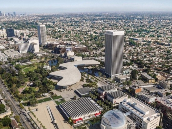 The proposal still spans Wilshire Boulevard. (Courtesy Atelier Peter Zumthor/The Boundary)