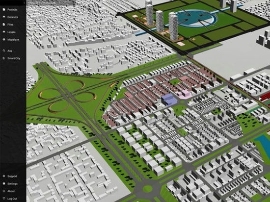 A look at the digital twin of Amaravati, India, within Cityzenith's Smart World Pro platform. (Courtesy Cityzenith)