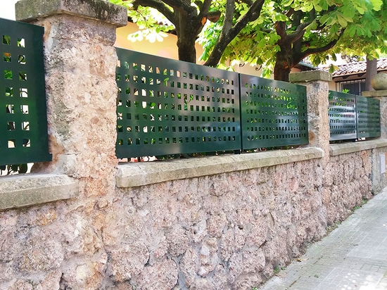 Perforated fencing in Sant Cugat