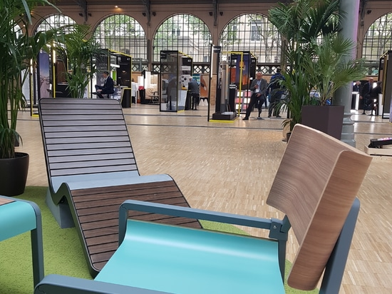 Colours and materials at the Carreau du Temple in Paris
