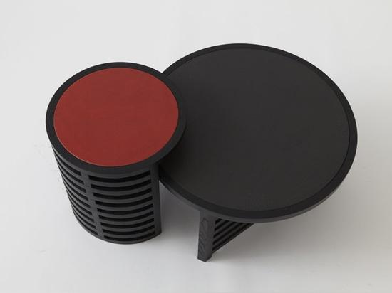 Pastille Minimalist Tables by Vonnegut Kraft with Natalie Weinberger