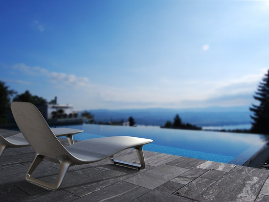 Heated loungers from stayconcrete.