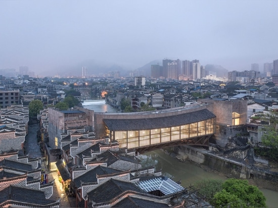Jishou Art Museum by Atelier FCJZ doubles as a pedestrian bridge