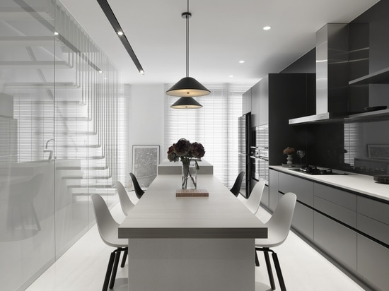 Residential project in Taiwan, China. Feat. Yi Side Chairs by TOOU