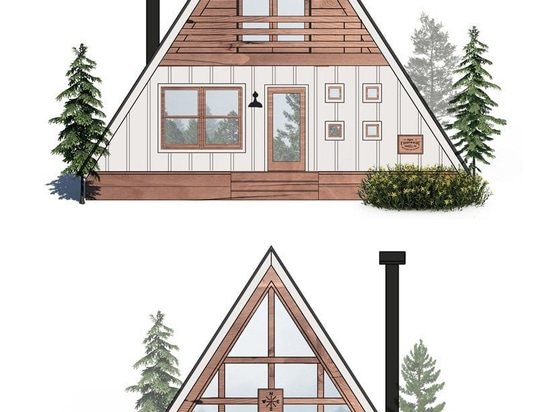 AYFRAYM is an affordable A-frame 'cabin-in-a-box' concept