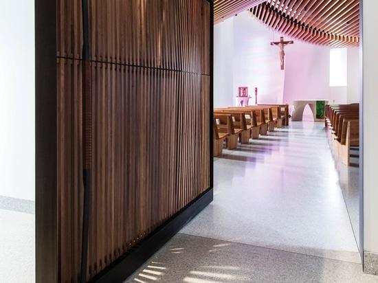 St Mary Chapel pivot entry door
