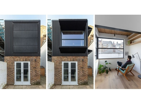 Large Black Shutters Are A Prominent Feature Of This Home In London