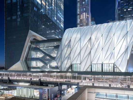 Diller Scofidio + Renfro and Rockwell Group's The Shed is located on the 30th Street flank of Hudson Yards. (Iwan Baan)