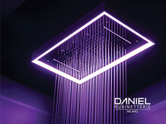 Shower head with led light by Daniel Rubinetterie 2019