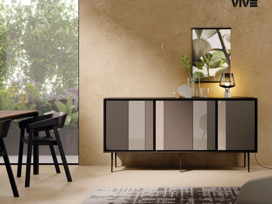 An elegant contrast of reflections, brings a sense of sophisticated luxury to the living room.