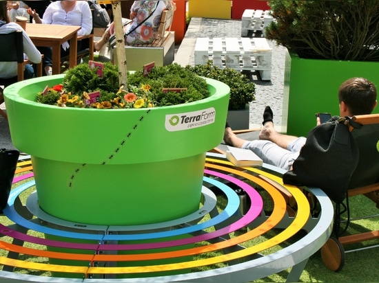 Creative benches and furniture for public spaces