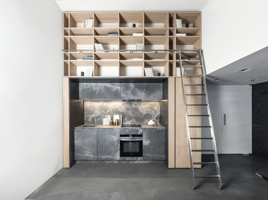 Concealed kitchens in TM Italia style