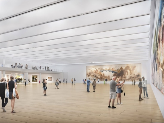 """Foster + Partners to add giant """"floating pavilion"""" to top of Bilbao Fine Arts Museum"""