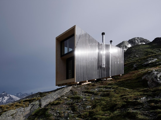 Running brand On creates zero-impact mountain hut in Swiss Alps