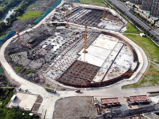 Field Hockey Stadium and visitors center construction progress