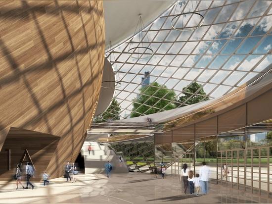 Table Tennis Stadium, main entrance lobby