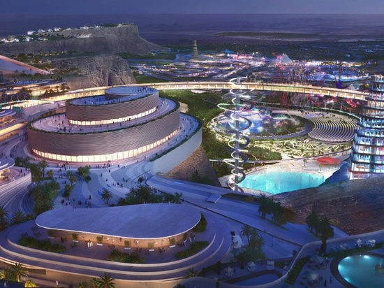 bjarke ingels group masterplans 'qiddiya', saudi arabia's sprawling capital of entertainment