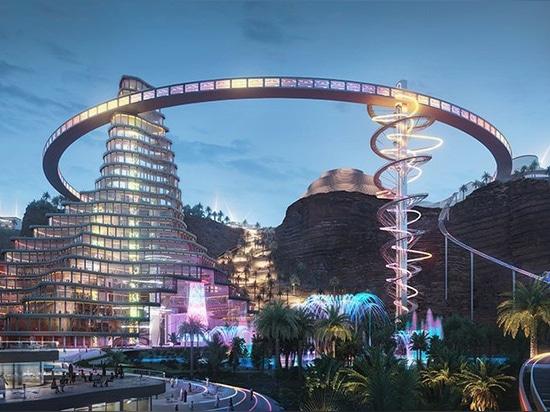 bjarke ingels group masterplans 'qiddiya', saudi arabia's sprawling capital of entertainment