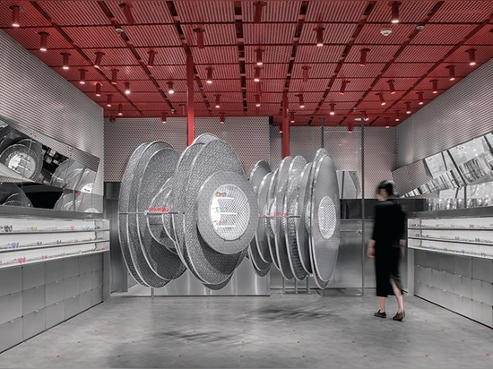roomoo recreates sound waves for whatever sunglass shop in shanghai