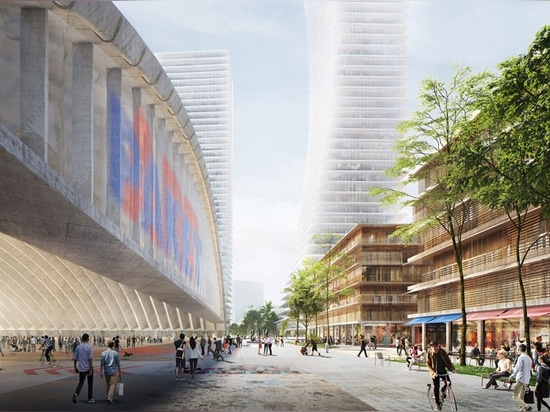 herzog & de meuron reveals mixed use masterplan for munich's paketposthalle area