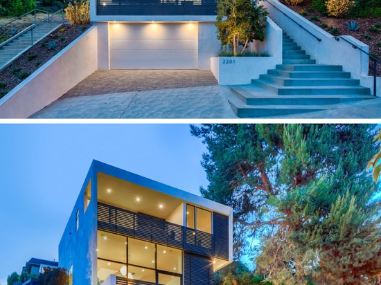 High Ceilings And Double Height Windows Keep This L.A. House Bright And Airy