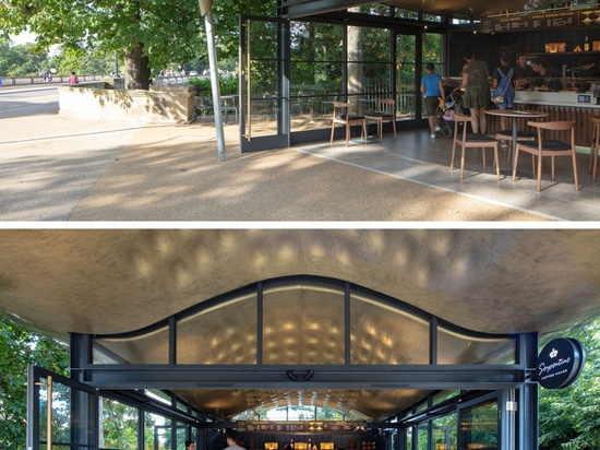 The Serpentine Coffee House Inspired By A Stingray's Flight Through Water