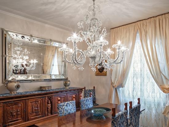 Murano chandeliers for private villa in Franciacorta area