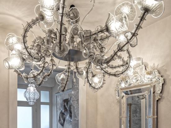 Temptation Murano chandeliers for private villa in Franciacorta area