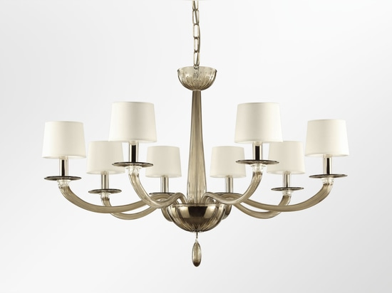Legend blown glass chandelier
