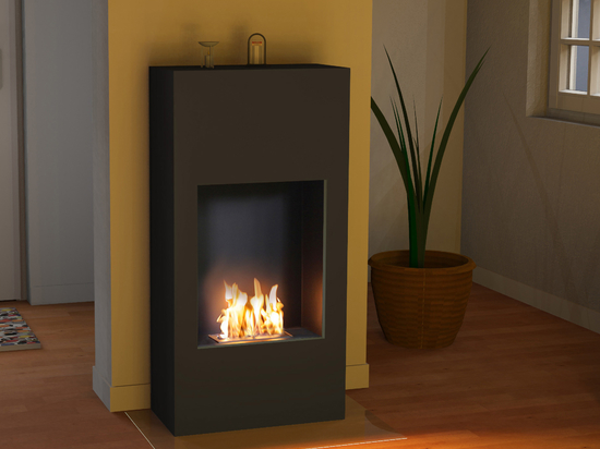 bergamo Simplico [floor or wall electric / ethanol fireplace]